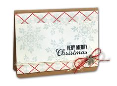 Very Merry Snowflakes Card - click through for project instructions.
