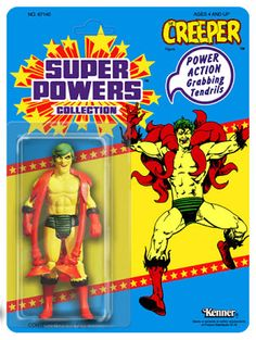 One of the best toys I ever played with as a child was the Super Powers from DC and Kenner. They even planned out a wave of toys and eve. Dc Comics Action Figures, Custom Action Figures, Classic Comics, Classic Toys, Retro Toys, Vintage Toys, Kenner Toys, Modern Toys, Old Toys