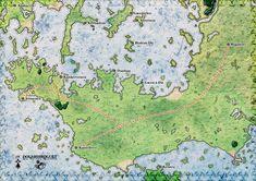 Douardiroguet, une carte d'inspiration morbihannaise pour un univers Médiéval Fantastique
