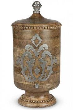 GG Heritage Wood and Metal Canister - Decorative Canisters - Wood Canisters - Kitchen Canisters | HomeDecorators.com