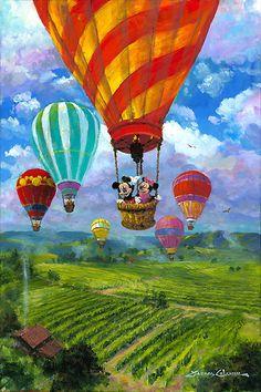 Mickey Mouse - Rising Over Napa - Minnie - Original - James Coleman - World-Wide-Art.com