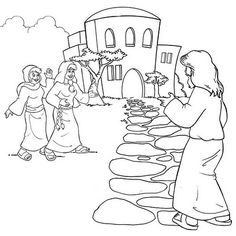 Mary and Martha Coloring Page  Bible Lessons for 2s  Pinterest