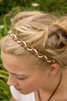Braided Headband Suede braided headband Pink Headband Boho Headband Mint Headband Braided Headband Cream Headband