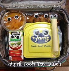 Fun April Fools Day Lunch - Making Memories With Your Kids