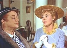 """Elsa Lanchester and Glynis Johns - """"Mary Poppins"""" """"We agree that as a group, they're raatherrr stuupid. David Tomlinson, See Julie, Glynis Johns, Mary Poppins 1964, Elsa Lanchester, Bedknobs And Broomsticks, Song Of The South, Jolly Holiday, Julie Andrews"""