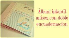 Album infantil con encuadernación combinada