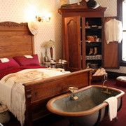 A room has been set in the early within Miss Laura's famous bordello, now the Fort Smith Visitor Center. Fort Smith Arkansas, Texas Revolution, Saloon Girls, Red Light District, Old Buildings, Spaces, Night, Room, Bedroom