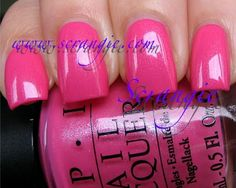 OPI Flower To Flower (Bright Medium Bubblegum Pink)
