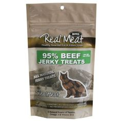 The Real Meat Company 828103 Cat Jerky Beef Treats 2 Pack 3 oz -- You can get more details by clicking on the image. (This is an affiliate link) #CatTreats