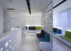 A hair treatment facility in Tokyo with perforated screens by KORI architecture office.