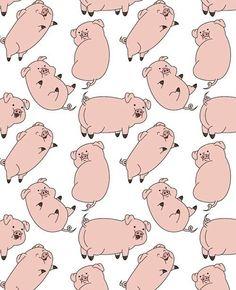 Imagen de gravity falls, pig, and wallpaper