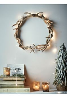 Faux Antler Wreath - Christmas
