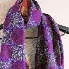 Silk Hand Embroidered Purple Kantha Scarf from West Bengal Indian Embroidery, Japanese Embroidery, Hand Embroidery Designs, Boro Stitching, Embroidery On Clothes, Diy Scarf, Kantha Stitch, Sewing Stitches, Straight Stitch