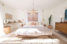 bohemian modern bedroom. / sfgirlbybay