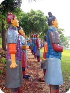 Terracotta Army - Buddha Eden Garden, Carvalhal - PORTUGAL