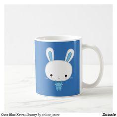 Cute Blue Kawaii Bunny Coffee Mug