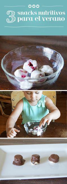 3 snack nutritivos y facil de hacer para el verano!
