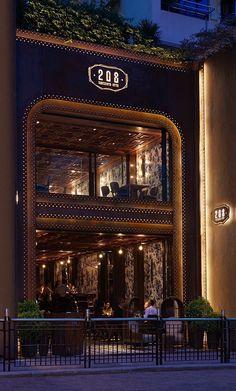 208 Duecento Otto restaurant by Autoban, Hong Kong