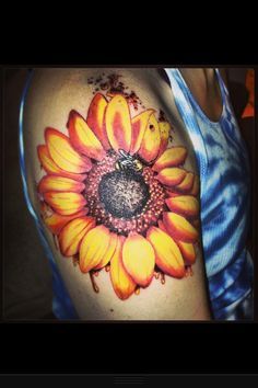 Sunflower Tattoo by Nick Potter So happy to have something so beautiful on my arm! #tattoo