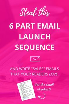 "Sales emails aren't supposed to be ""salesy"". Use this comprehensive email sequence to write the 6 essential emails you need for your digital launch."