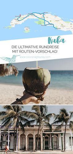 Rundreise durch Kuba – Route und Highlights Are you looking for inspiration for a road trip through Cuba? In my article you will find all the highlights and sights including route suggestion! Cuba Travel, Nightlife Travel, Spain Travel, Florida Keys, Havana Cuba Beaches, Caribbean Islands To Visit, Cuba Island, Cuba Itinerary, Koh Lanta Thailand