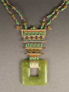 Joan Babcock makes some incredible micro macrame jewelry - - -