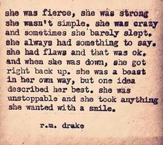 She was unstoppable!