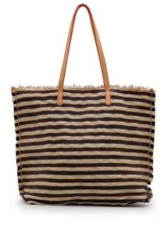 TOUCH - Shopper rayas cuerda entretejida /en fucsia (lino, cremallera)32,99€