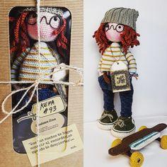 katxirula Knitted Dolls, Crochet Dolls, Amigurumi Doll, Doll Toys, Tinkerbell, Crochet Projects, Hobbit, Japanese, Knitting