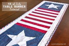 Add the perfect touch to your holiday decor with this darling patriotic table runner tutorial. All instructions included.