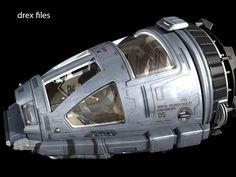 The Phoenix (Terra, Sol III) Warp Ship, command & control capsule. Spaceship Interior, Spaceship Design, Spaceship Concept, Concept Ships, Concept Art, Star Trek Starships, Star Trek Enterprise, Aliens, Starfleet Ships