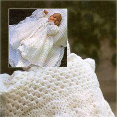 Free Christening Coat & Bonnet Crochet Patterns-wonderfuldiy