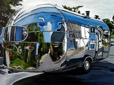 #1950 #Airstream Liner - Taralee Guild by taraleeguild, via #Flickr (Great shiny mirror finish!)