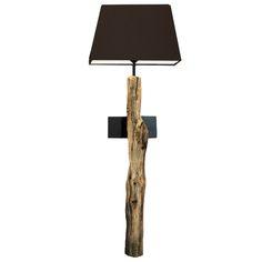 Boomstronk Wandlamp