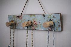 Vintage Cork Jewelry Organizer Necklace Jewelry Holder