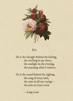 HE by Lang Leav