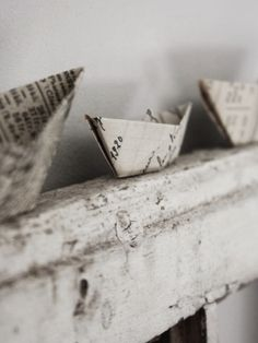 …paper boats