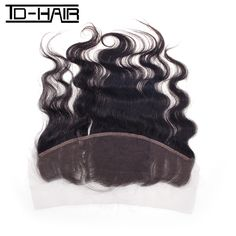 52.44$  Watch here - http://ali6yp.worldwells.pw/go.php?t=32240815048 - Lace Front  Peruvian Virgin Hair Body Wave Lace Frontal Closure 13*4 TD HAIR Unprocessed Human Virgin Hair Natural Black #1B