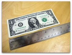Dollar bill to measure 6 inches from Thread Magazine – I NEVER knew this!  This one will for sure come in handy!