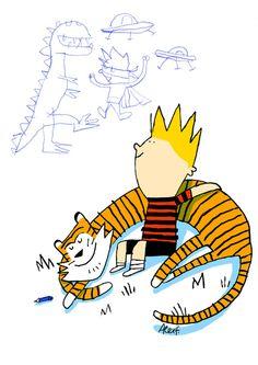 AlexF debuta en Versiones Ilustradas con esta magnífica versión de Calvin y Hobbes. Muchas Gracias Alex! http://lallibretadelalex.blogspot.com/