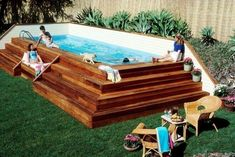 Diy Pool Deck Pool Decking Above Ground Swimming Pool Designs Awesome Above Ground Pool Deck Designs Pool Kit Pool Deck Coatings Diy Pool Deck Kit Outdoor Projects, Home Projects, Diy Backyard Projects, Cool Backyard Ideas, Backyard Layout, Backyard Plan, Garden Projects, Oberirdische Pools, Shipping Container Pool