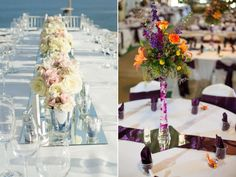 Mirror Table Runners, Reflective Table Centerpieces