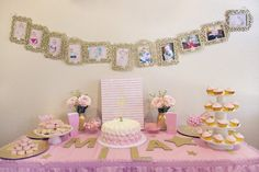 Miss Mila's First Birthday Party! Pink & Gold Twinkle Twinkle Little Star Theme - The Flight Wife Pink And Gold Birthday Party, 1st Birthday Party For Girls, Girl First Birthday, Birthday Party Decorations, Birthday Ideas, Pink Und Gold, Star Party, Twinkle Twinkle Little Star, 1st Birthdays