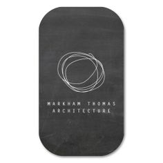 Designer Scribble Logo on Black Chalkboard Business Cards