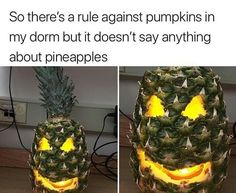Happy Halloween ???? stay safe and have fun! - Imgur >>> I swear that pineapple looks scarier than every pumpkin I've ever seen