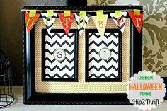 DIY Halloween : DIY Countdown Halloween Frame