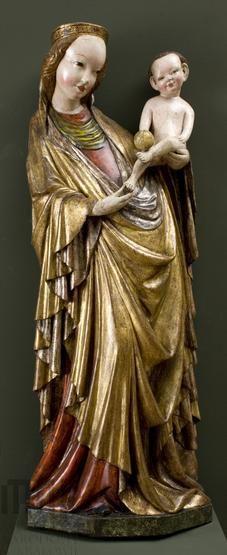 Matka Boska z Dzieciątkiem z kościoła w Krużlowej Wyżnej, ok. 1410