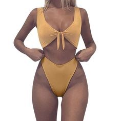 Bikini Swimsuits, FORUU Women Knotted Padded Thong Mid Waisted Bow Scoop Beach >>> Click image for more details. (This is an affiliate link) Bikini Sets, Bikini Swimwear, Sexy Bikini, Thong Bikini, Swimsuits For Teens, Two Piece Swimsuits, Women Swimsuits, Bikini Outfits, Clothes