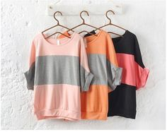 Blusa Color Block manga morcego - RainBows Store