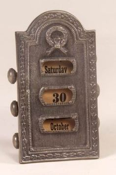 antique perpetual calendar